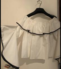 Zara bijeli top s volanima