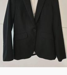 H&M klasični strukirani crni sako