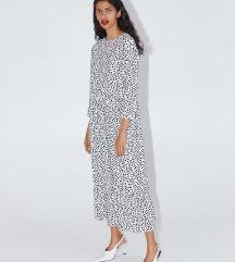 ZARA -popularna točkasta haljina -midi