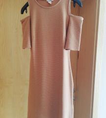 H&M haljina s cutout rukavima