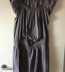 NAF NAF siva pamučna haljina