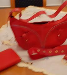 Crveni lot,torba,novcanik,i,remen