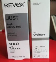 Revox Just AHA  +The Ordinary Lac Acid 10% + HA 2%
