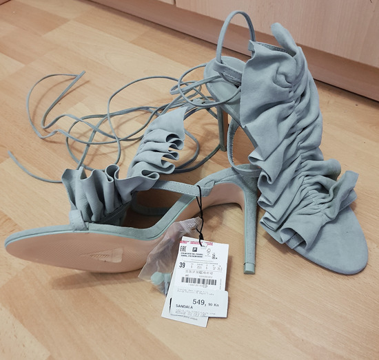 Nove ZARA sandale s etiketom 100% KOŽA