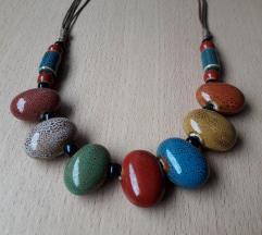 Podesiva šarena ogrlica ručni rad