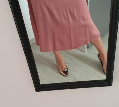 Satenska midi suknja