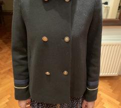 Zara kratki kaput XS crni