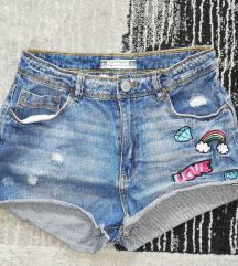 Jeans hlacice visoki struk