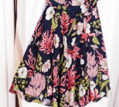 NOVA plava-cvjetna  ljetna haljina M/40