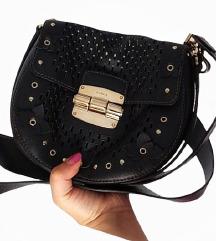 Furla Black Floral  Saddle Bag %%%