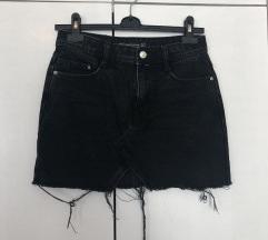 Zara teksas crna mini suknja