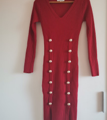 Morgan crvena pletena haljina
