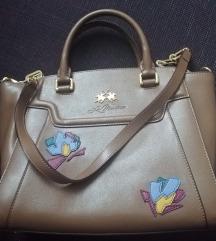 Smeđa sa zlatnim torba La Martina