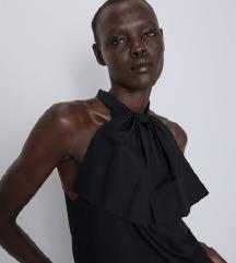 Zara crni top s mašnom