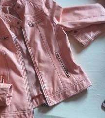 Narančasta kožna jakna S