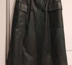 Tamnozelena kožna suknja XL