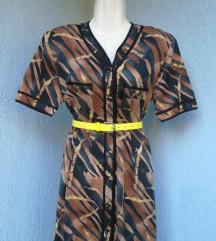 Tigrasta vintage haljina 80e
