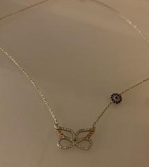 Rose gold ogrlica