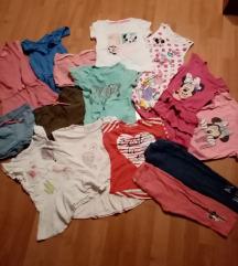 Lot ljetne  odjece za djevojcice broj 98/104