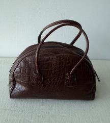 PULICATI torba/prava koža/kroko dezen NOVA