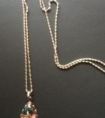 Duga ogrlica sa brošom sniženo