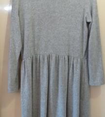 Zara mekana siva haljina L/XL-NOVO!!