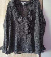 Crno bijela točkasta košulja vel 46/48