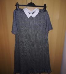 Reserved karirana haljina s kragnom
