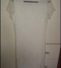 Bijela čipkans haljina