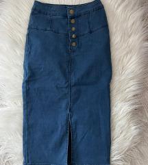 Jeans suknja Vel.32