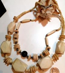 Kost ogrlice ogromne perle