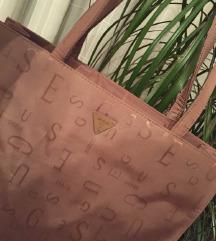 GUESS shopping bag bež nude  logo torba