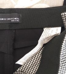 Nove BERSHKA karirane hlače visoki struk xs 32