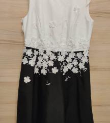 Svečana haljina s cvjetnim aplikacijama