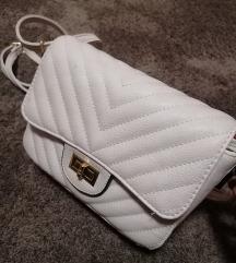 Bež- bijela torbica  s pt