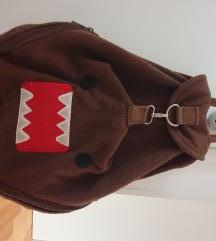 Domo hipster backpack - plišana smeđa torba/ruksak