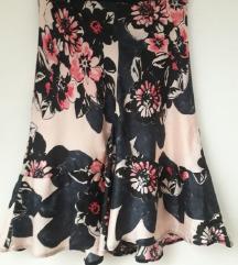 Cvjetna satenska suknja Mango 38