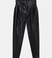 Zara kožne hlače s remenom