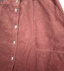 Samt suknja 46