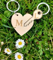 Privjesak u kompletu srce + ključ  💝