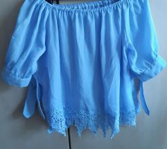 Plava bluza/kosulja S/manji M (postarina gratis)