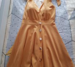 Žuta ljetna haljina s mašnama