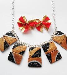 Nova zlatno-crna ogrlica