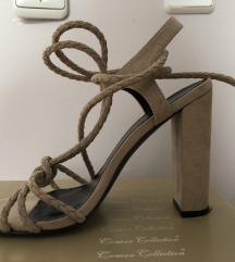 Ljetne otvorene sandale na petu