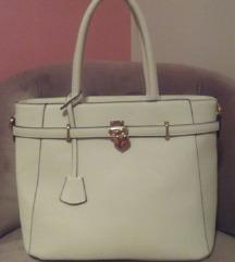 Veca bijela torba sa zlatnim srcem