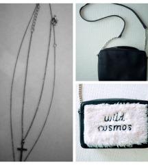 % PULL&BEAR torbica sa krznom +🎁 dupli lančić