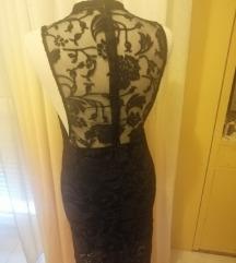Bershka čipkasta haljina duga s