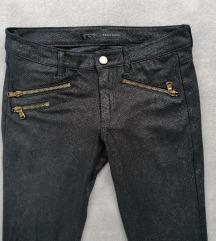 Zara print snake hlače zip XS