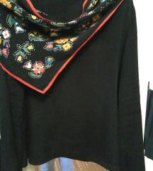Zara košulja-top od  svile s prišivenom maramom