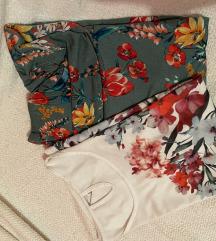 Lot 2 cvjetne majice kratki rukav